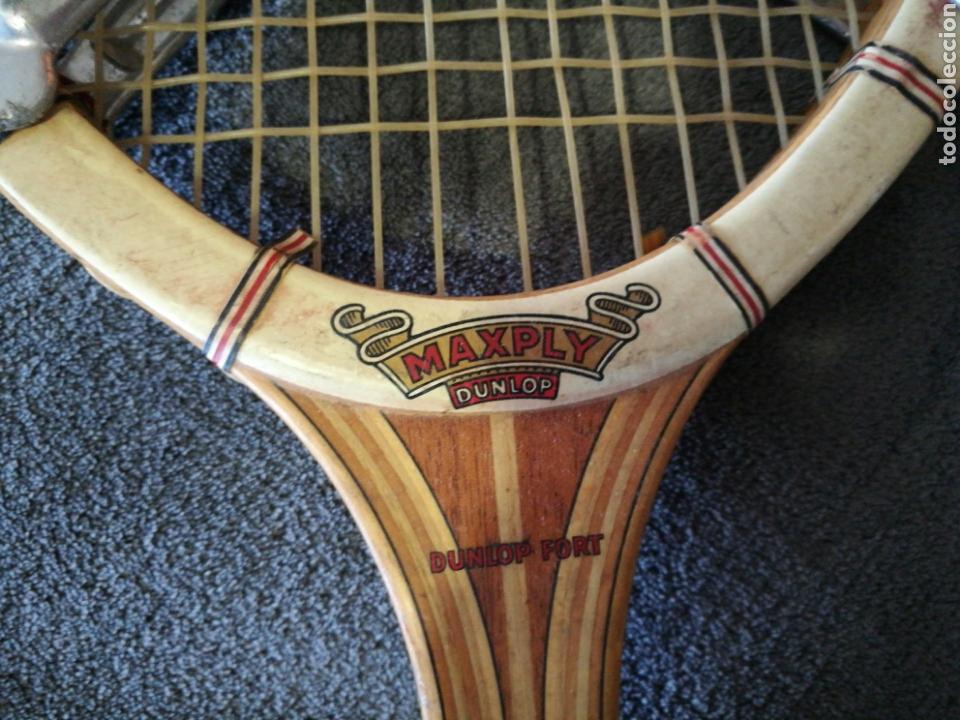 Coleccionismo deportivo: Raqueta de tenis Dunlop Maxiply años 70 - Foto 2 - 97362439