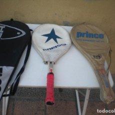 Coleccionismo deportivo: MAGNIFICAS 3 RAQUETAS DE MARCA CON SU FUNDAS . Lote 98438083