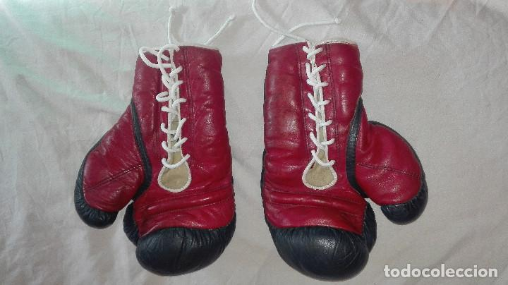 Coleccionismo deportivo: guantes profesionales antiguos.teide - Foto 3 - 99416383