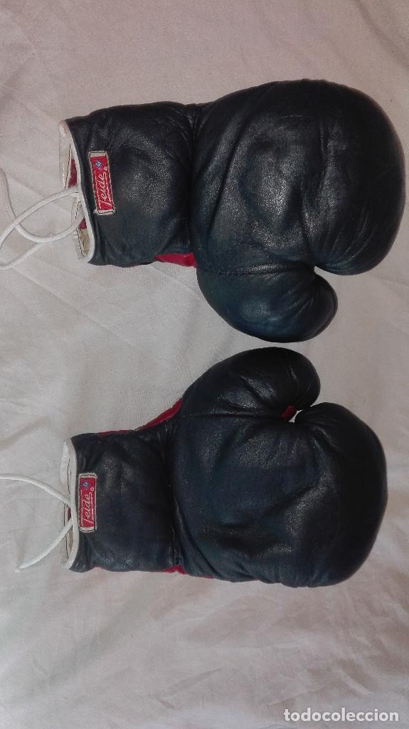 Coleccionismo deportivo: guantes profesionales antiguos.teide - Foto 4 - 99416383