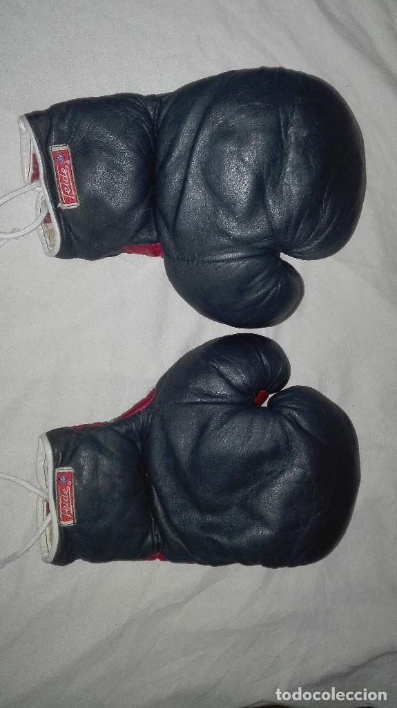Coleccionismo deportivo: guantes profesionales antiguos.teide - Foto 5 - 99416383