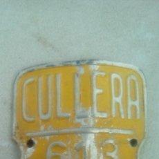 Coleccionismo deportivo: MATRICULA CHAPA BICICLETA CULLERA 1971. Lote 106008150