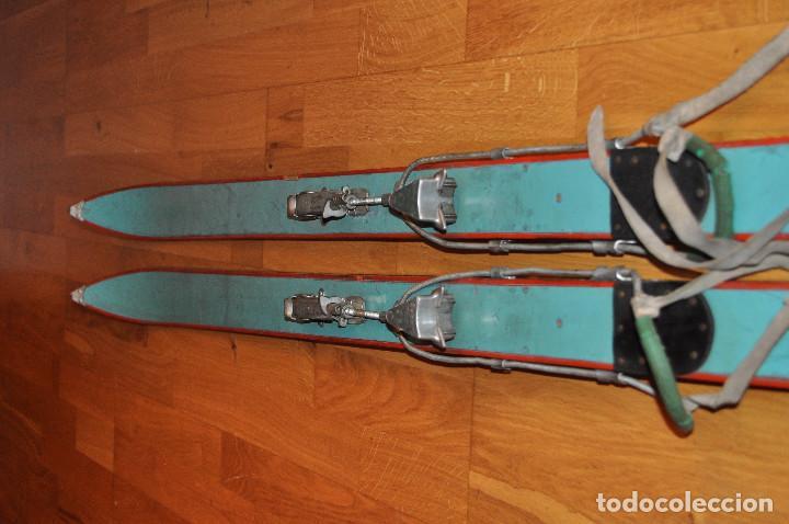 Coleccionismo deportivo: Esquíes antiguos - Foto 2 - 99716147