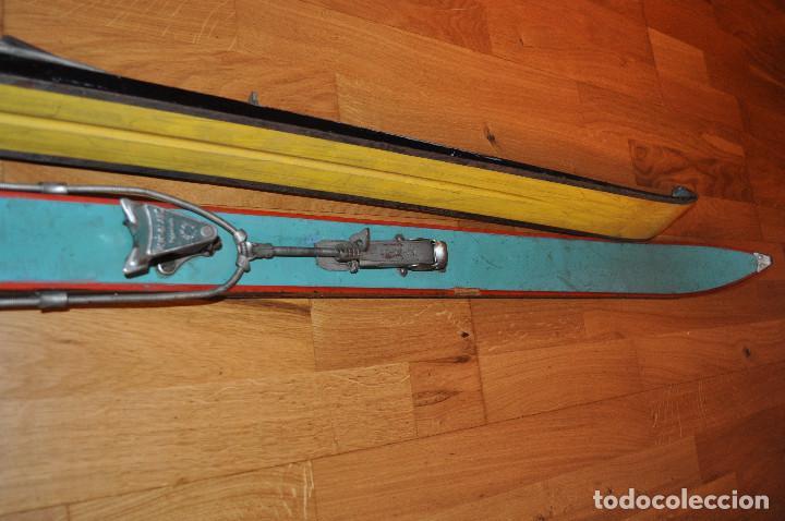 Coleccionismo deportivo: Esquíes antiguos - Foto 3 - 99716147