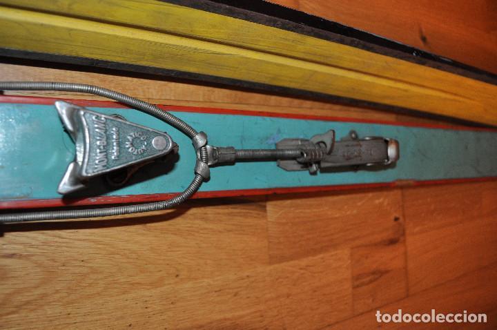Coleccionismo deportivo: Esquíes antiguos - Foto 4 - 99716147