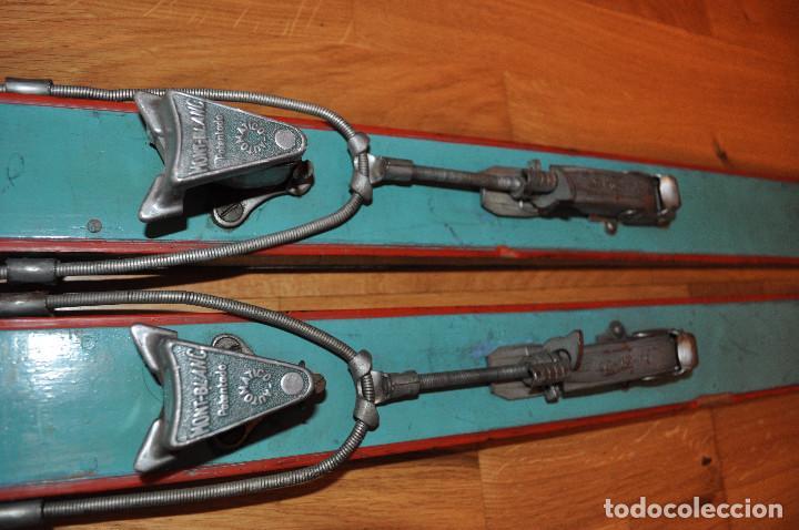 Coleccionismo deportivo: Esquíes antiguos - Foto 5 - 99716147