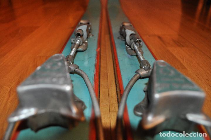Coleccionismo deportivo: Esquíes antiguos - Foto 6 - 99716147