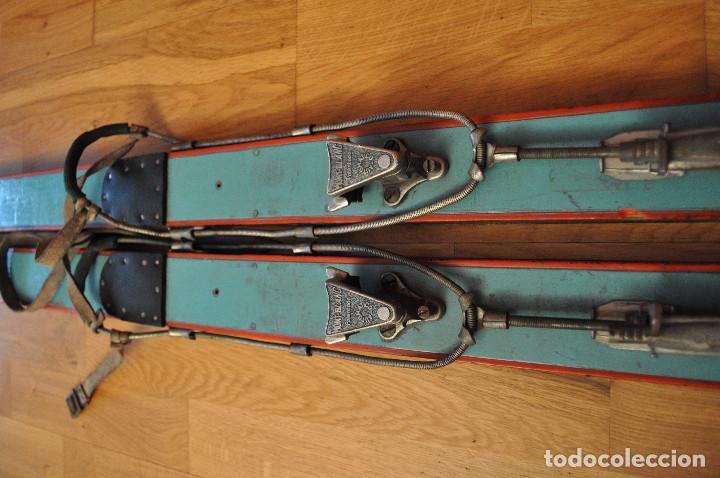 Coleccionismo deportivo: Esquíes antiguos - Foto 7 - 99716147