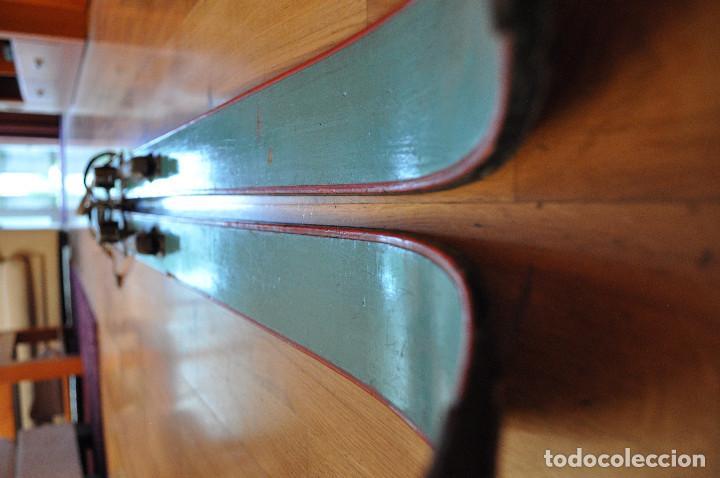 Coleccionismo deportivo: Esquíes antiguos - Foto 8 - 99716147