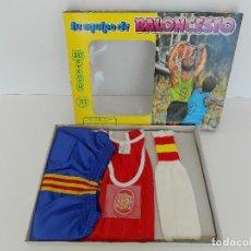 Coleccionismo deportivo: EQUIPO DE BALONCESTO-SELECCION ESPAÑOLA. TALLA 3. ORIGINAL AÑOS 80. NUEVO, A ESTRENAR!. Lote 100941471