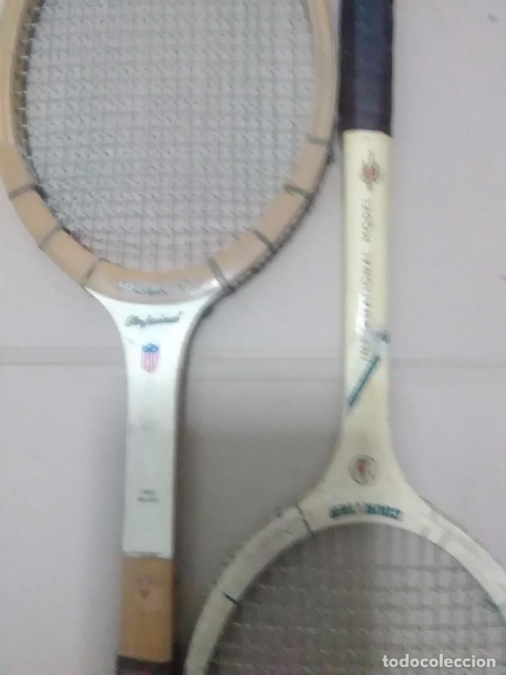 Coleccionismo deportivo: Pareja de raquetas antiguas - Foto 4 - 103803499