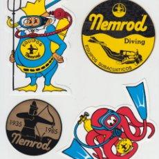 Coleccionismo deportivo: NEMROD LOTE DE PEGATINAS, ADHESIVOS. Lote 104325012