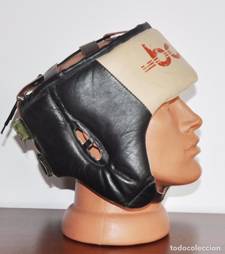 Coleccionismo deportivo: Casco de boxeo años 70 con .URSS - Foto 4 - 155771958