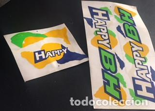 LOTE PEGATINA ORIGINAL ADHESIVO PARA BICICLETA BH HAPPY DE LOS AÑOS 80 PEGATINAS ADHESIVOS (Coleccionismo Deportivo - Material Deportivo - Otros deportes)