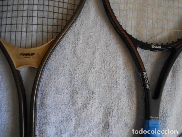 Coleccionismo deportivo: DOS RAQUETAS TENIS MARCAS WILSON Y KUEBLER CON SUS FUNDAS - Foto 2 - 108280203
