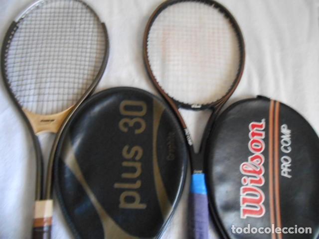 Coleccionismo deportivo: DOS RAQUETAS TENIS MARCAS WILSON Y KUEBLER CON SUS FUNDAS - Foto 4 - 108280203