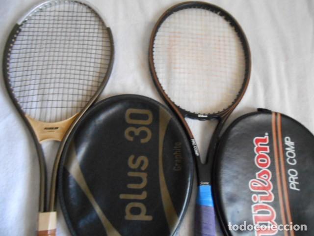 Coleccionismo deportivo: DOS RAQUETAS TENIS MARCAS WILSON Y KUEBLER CON SUS FUNDAS - Foto 5 - 108280203