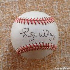 Coleccionismo deportivo: PRESTON WILSON SIGNED BASEBALL HS PLAYER OF THE YEAR/ PELOTA FIRMADA POR PRESTON. Lote 108348163