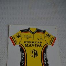 Collectionnisme sportif: PEGATINA DEL EQUIPO CICLISTA PUERTAS MAVISA 9 CMX 10 CM. Lote 109584355