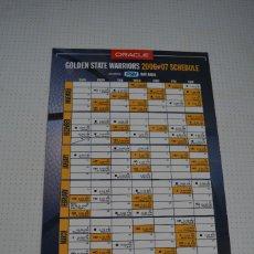 Coleccionismo deportivo: PLANCHA MAGNETICA GOLDEN STAE WARRIORS 2006-07 SCHEDULE. Lote 109586059