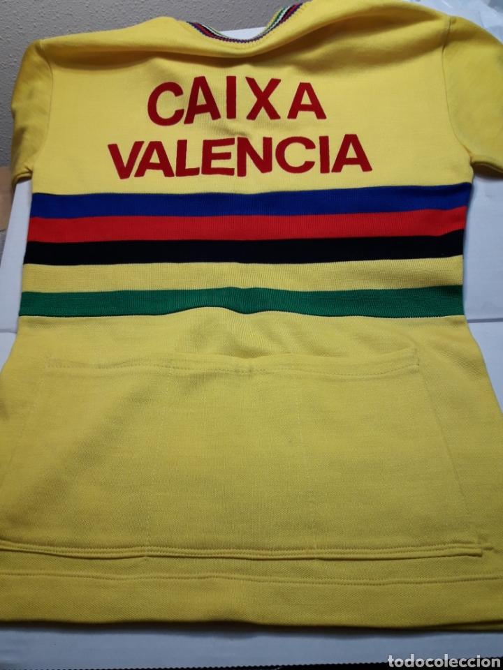 Coleccionismo deportivo: Mayot antiguo de ciclista Publicidad años 80 - Foto 2 - 110659114