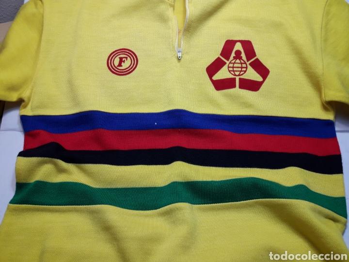 Coleccionismo deportivo: Mayot antiguo de ciclista Publicidad años 80 - Foto 5 - 110659114