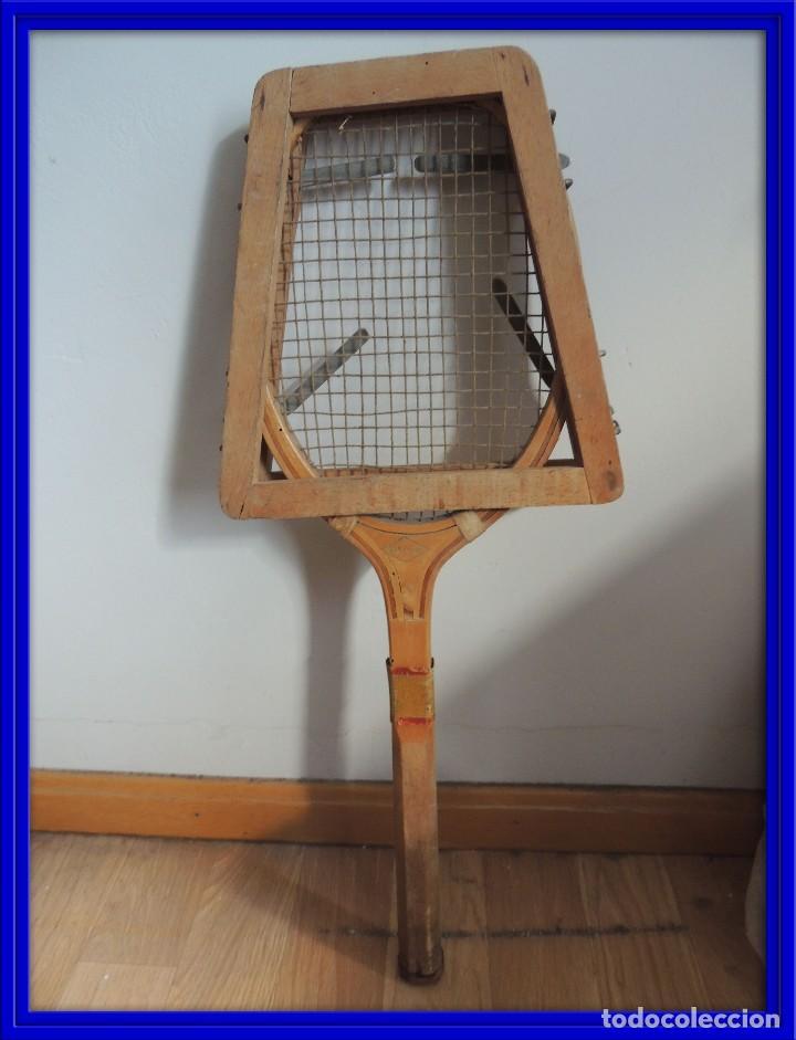 raqueta tenis antigua con marco protector - Comprar en todocoleccion ...