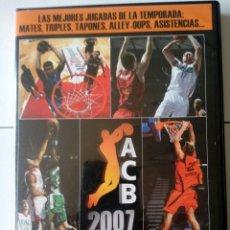 Coleccionismo deportivo: DVD ACB TEMPORADA 2007 2008. EDITADO POR BASKET LIFE. Lote 116123687