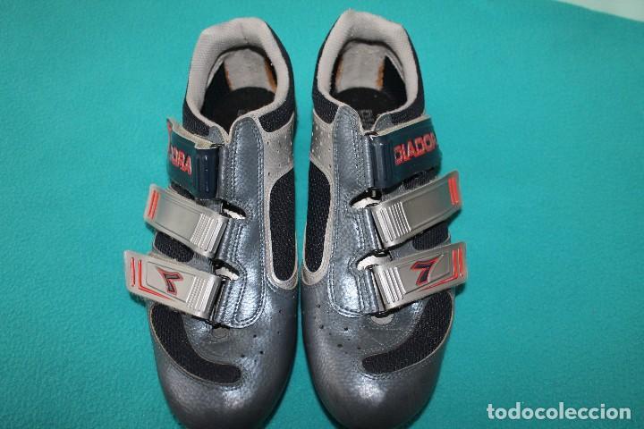 Vintage Ciclismo Con Zapatillas Calas Diadora DH9YEW2I