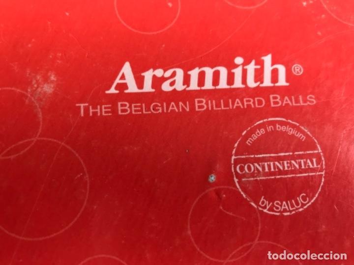 Coleccionismo deportivo: SET BOLAS DE BILLAR AMERICANO ARAMITH EN CAJA - Foto 4 - 118637283
