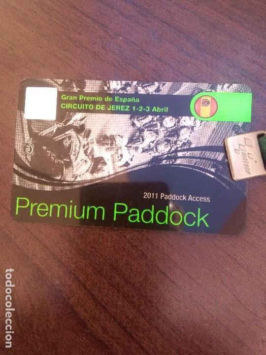 Coleccionismo deportivo: Circuito de Jerez, tarjeta paddock Gran Premio 2011 - Foto 2 - 120897491