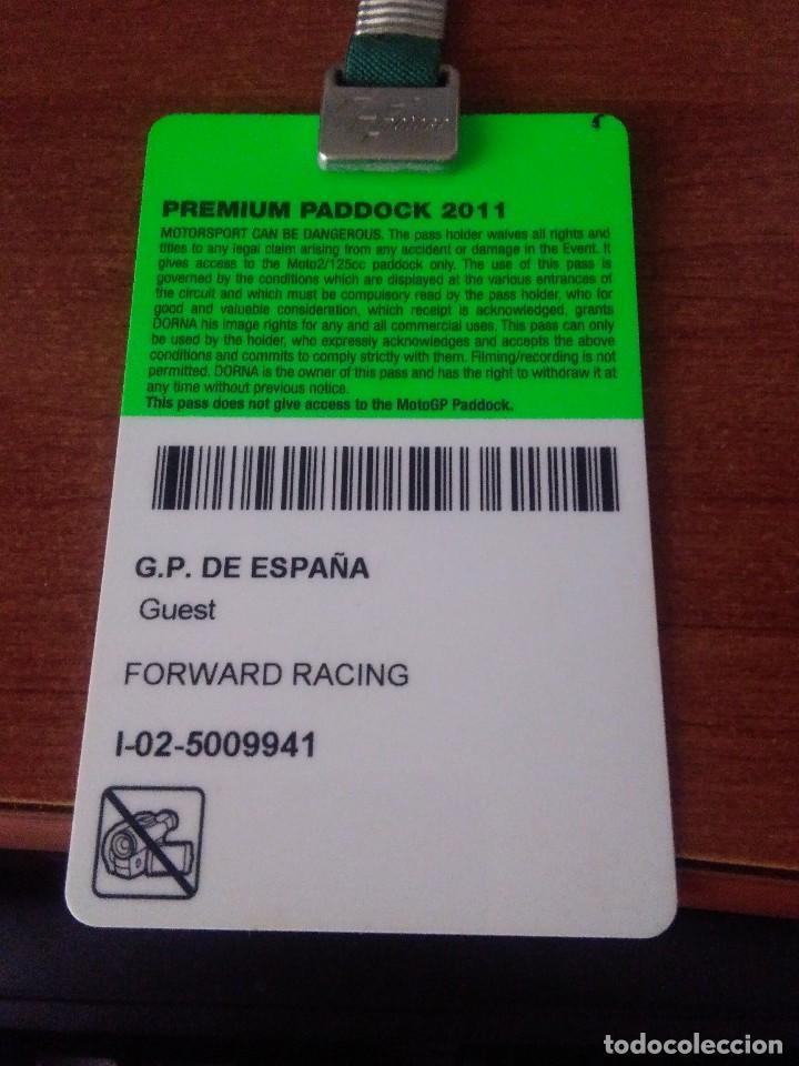 Coleccionismo deportivo: Circuito de Jerez, tarjeta paddock Gran Premio 2011 - Foto 3 - 120897491