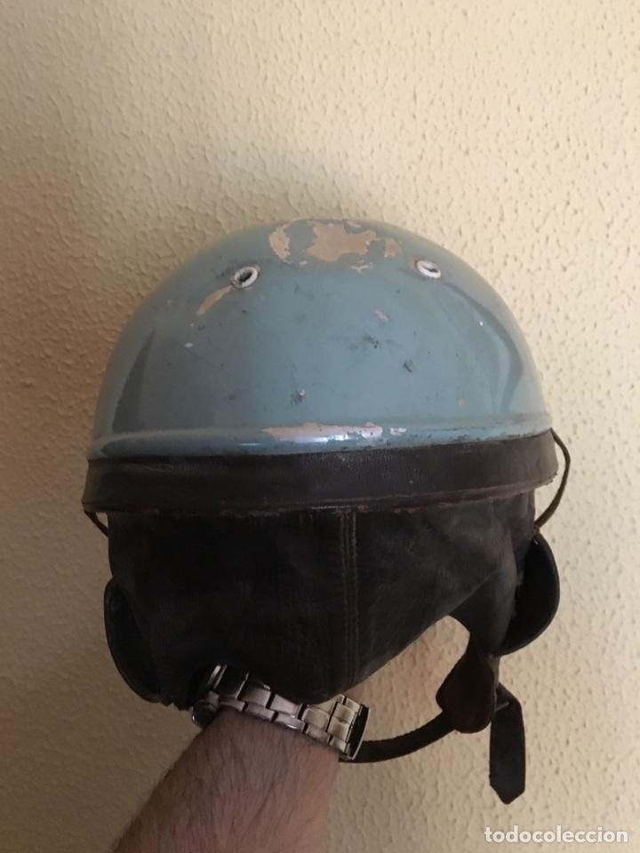 Coleccionismo deportivo: Casco moto antiguo, cuero - Foto 3 - 124649384