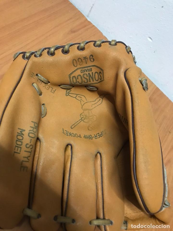 Coleccionismo deportivo: guante béisbol sonsco brand super - Foto 2 - 130280207