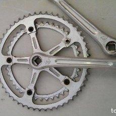 Coleccionismo deportivo - eje pedalier completo con juego de bielas de bicicleta bianchi campagnolo autentico,l¨eroica - 130568630
