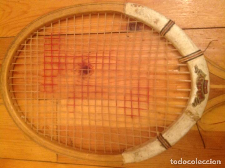 Coleccionismo deportivo: Raqueta de tenis antigua Dunlop Maxply - Foto 3 - 131421657