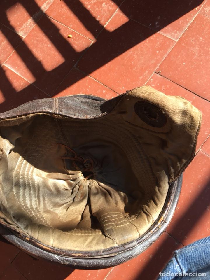 Coleccionismo deportivo: Casco moto antiguo, cuero - Foto 11 - 124649384
