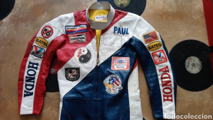 Coleccionismo deportivo: ANTIGUO MONO VINTAGE OFICIAL MOTOCICLISMO-HONDA-MOTO-CON PARCHES-CALIFORNIA - ORIGINAL AÑOS 70-80 - Foto 2 - 134001425