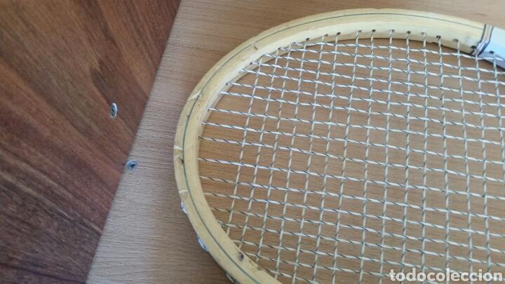 Coleccionismo deportivo: 2 raqueta madera raquetas caravell super - Foto 4 - 135581582