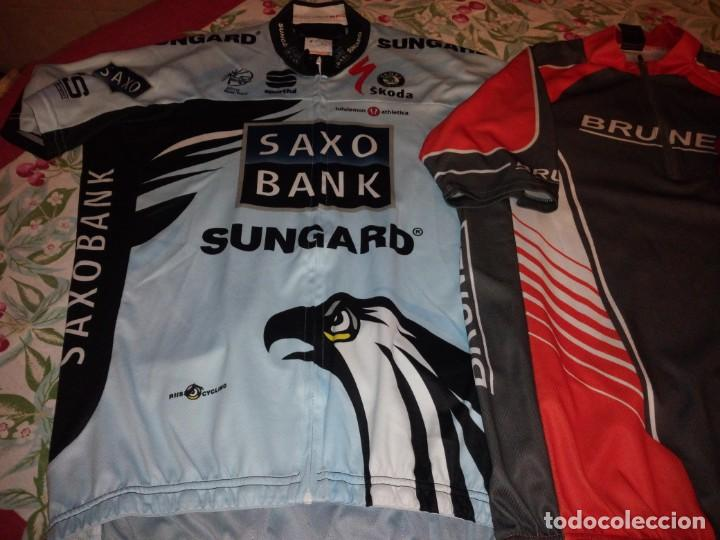 Coleccionismo deportivo: Lote de 2 maillots de ciclismo, honda,brunex,tallax xl y xxl - Foto 2 - 135836010