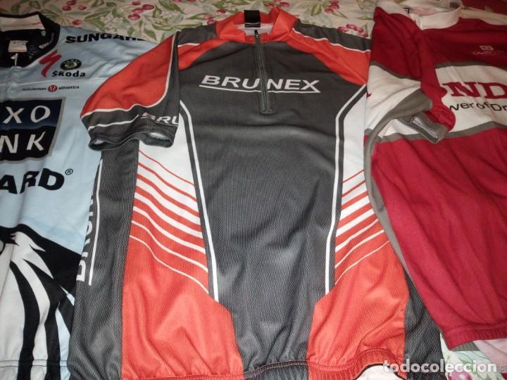 Coleccionismo deportivo: Lote de 2 maillots de ciclismo, honda,brunex,tallax xl y xxl - Foto 3 - 135836010