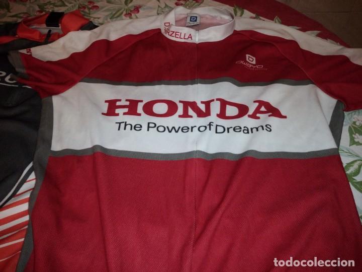 Coleccionismo deportivo: Lote de 2 maillots de ciclismo, honda,brunex,tallax xl y xxl - Foto 4 - 135836010