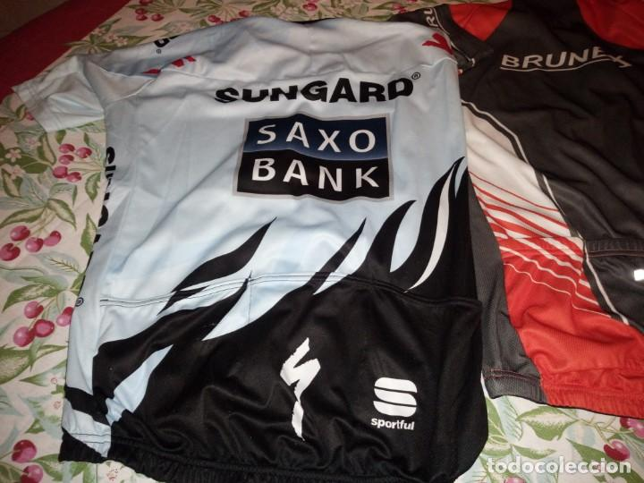 Coleccionismo deportivo: Lote de 2 maillots de ciclismo, honda,brunex,tallax xl y xxl - Foto 5 - 135836010
