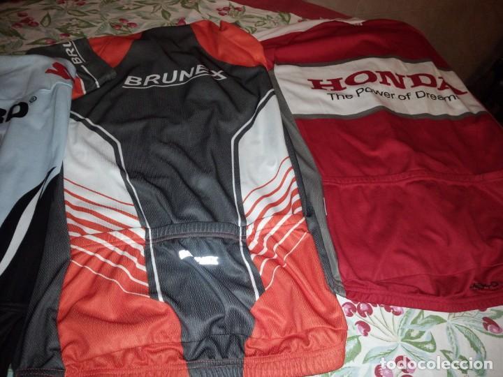 Coleccionismo deportivo: Lote de 2 maillots de ciclismo, honda,brunex,tallax xl y xxl - Foto 6 - 135836010
