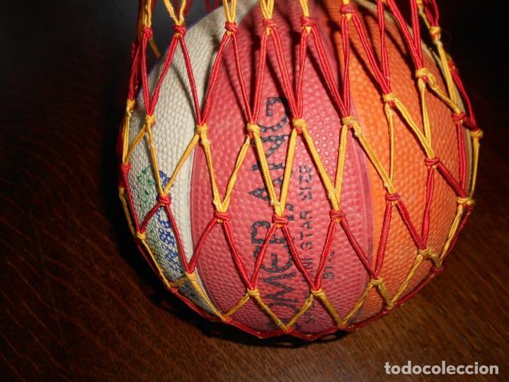Coleccionismo deportivo: BALÓN DE BALONCESTO BOOMERANG RAINBOW,OFICIAL MINI STAR,SIZE RT-3 - Foto 6 - 136506166