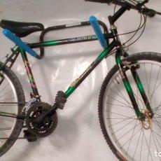 Coleccionismo deportivo: BICICLETA DE MONTAÑA SHIMANO , AÑOS 90 . COLOR VERDE METALIZADO . GRANDES DIMENSIONES VER. Lote 136756442