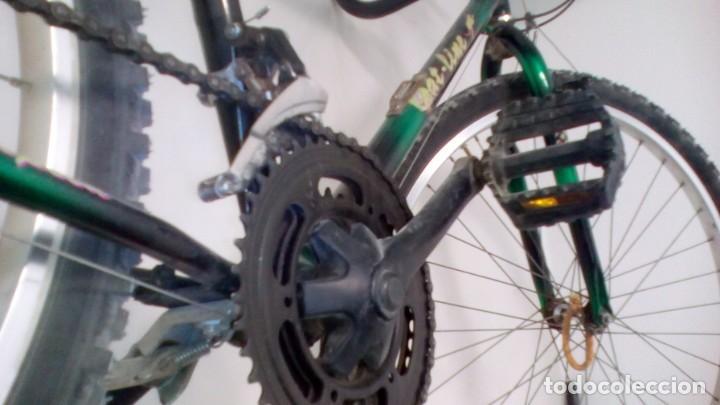 Coleccionismo deportivo: BICICLETA DE MONTAÑA SHIMANO , AÑOS 90 . COLOR VERDE METALIZADO . GRANDES DIMENSIONES VER - Foto 8 - 136756442