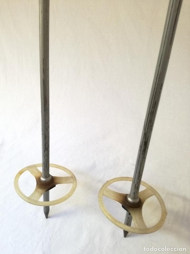 Coleccionismo deportivo: Esquís antiguos - Foto 7 - 137710002