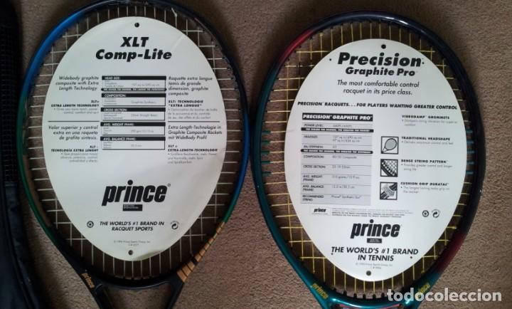 Coleccionismo deportivo: 2 Raquetas Prince Tenis Vintage años 90 - Foto 2 - 140905418
