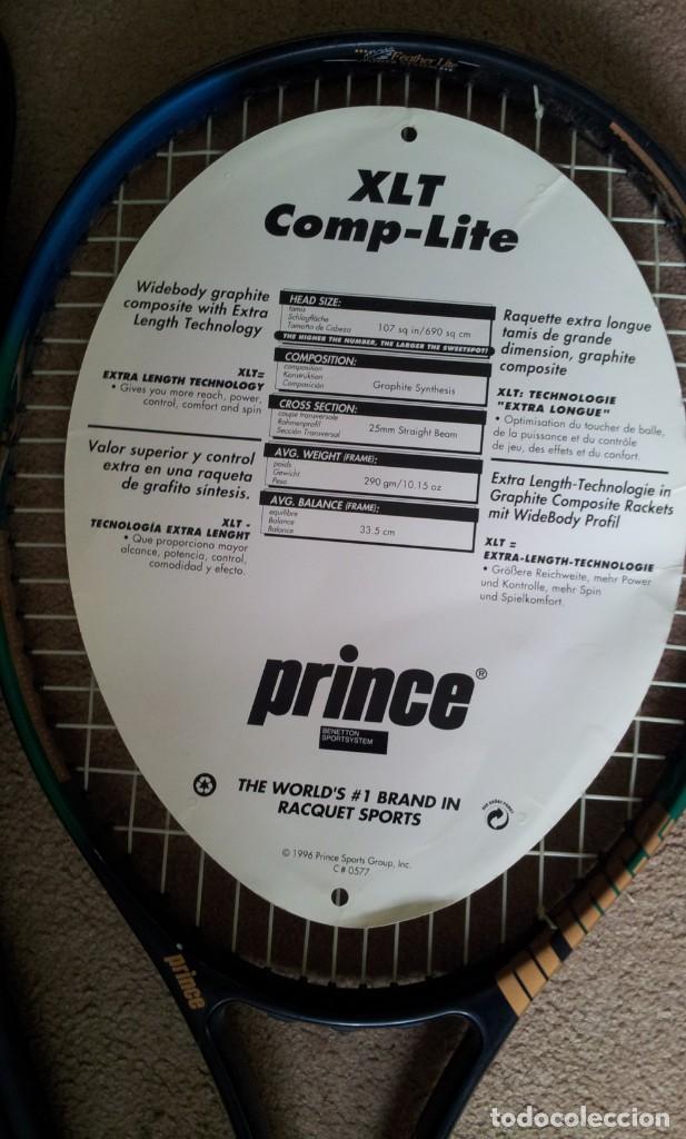 Coleccionismo deportivo: 2 Raquetas Prince Tenis Vintage años 90 - Foto 3 - 140905418